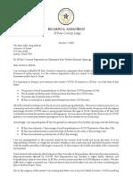 El Paso County Judge Ricardo Samaniego Letter to Gov. Greg Abbott