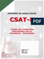 Informe CSAT