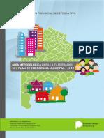 Guia Metodologica la elaboracion del Plan de Emergencia Municipal