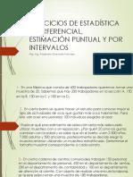 Ejercicios de Estadística Interferencial, Estimación Puntual y
