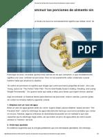 14 maneras de disminuir las porciones de alimento sin pasar hambre - Dr.pdf