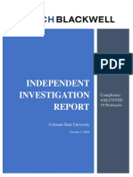 CSU Compliance With COVID-19 Final Report