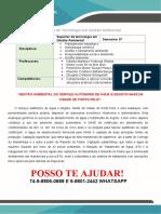 Portifolio - Gestao Ambiental - Serviço Autônomo de Água e Esgoto-saae- 6 Semestre<<<PROMOÇÃO>>25,00 REAIS