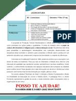 o Papel Da Cultura Afro-brasileira e Indígena Para a Democratização Social Licenciatura 1 e 2 Semetre<<<PROMOÇÃO>>25,00 REAIS