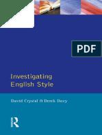 (English Language) David Crystal, Derek Davy - Investigating English Style-Routledge (1973).pdf