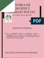 TEORIA DE GRUPOS Y TRABAJO SOCIAL