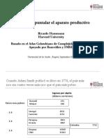 Hausmann congreso Andes - ideas para apuntalar el aparato producctivo