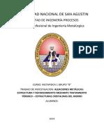 ALEACIONES METÁLICAS ESTRUCTURA Y REFORZAMIENTO MEDIANTE TRATAMIENTO TÉRMICO – ESTRUCTURAS CRISTALINAS DEL HIERRO.docx