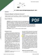 Synthesis of some β-nitro-meso-tetraphenylporphyrin derivatives