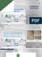 Aula Teórica 9 Geral Controle de Qualidade Estudos de Estabilidade CQ 2020 1 C