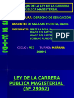 ARTÍCULOS DE LA LEY DE LA CARREERA PÚBLICA