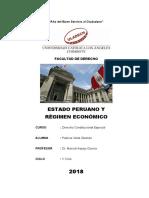 ESTADO PERUANO Y RÉGIMEN ECONÓMICO - Monografia