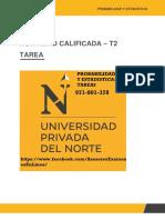 PROBABILIDAD Y ESTADÍSTICA  ACTIVIDAD CALIFICADA – T2
