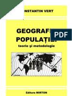 Geografia populatiei_teorie si metodologie