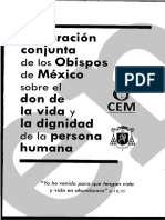 Declaración Conjunta de Los Obispos de México