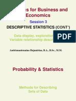 Session 3, BUS, Descriptive Stat, Exploring Data-Var Analysis, Sincih
