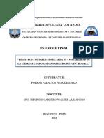 INFORME DE PRACTICAS PRE PROFESIONALES II