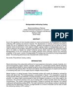 Biodegradable Antifouling  Coating