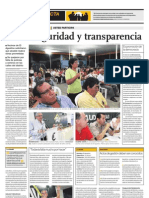 Audiencia Vecinal El Agustino 2011 - El Comercio Lunes 31 de Enero