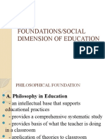 L.E.T.FOUNDATIONS OF EDUCATION