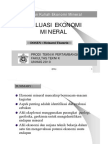 Evaluasi Ekonomi Mineral