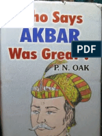 Who Says Akbar Was Great