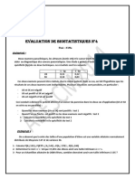 EVALUATION N ° 4 DE BIOSTAT AEESCM 2014