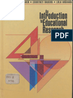 AN INTODUCTION TO EDUCATIONAL RESEARCH