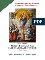 12 de Octubre. Nuestra Señora la Virgen del Pilar. Propio y Ordinario de la santa misa