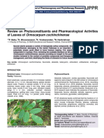 Review on Phytoconstituents and Pharmacological Activities of Leaves of Ormocarpum cochinchinense