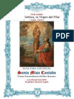12 de octubre. Nuestra Señora la Virgen Del Pilar. Guía de los fieles para la santa misa cantada. Kyrial Cum Iubilo.  Apéndice Himno y Kyrial De Angelis