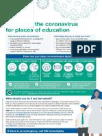 coronavirus advice for educational settings poster