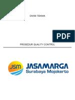 Prosedur Quality Control