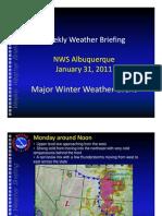 Weekly Weather Briefing