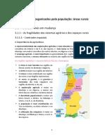 Os Espaços organizados pela população - áreas rurais - Geografia A 11º