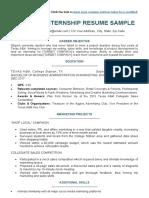 College-Student-Resume-For-Internship-Sample-MSWord-Download