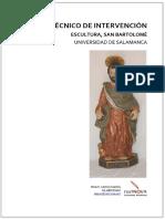 Informe Técnico Intervención Escultura de San Bartolomé
