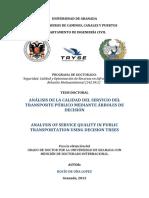 Analisis de calidad del transporte publico mediante arbol de decision