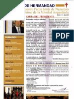 Boletín oficial de la Cofradía Nuestro Padre Jesús Nazareno y Mª Stma. Soledad Angustiada (2010)