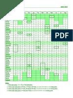 2020-2021 - Calendário escolar & de marcação de testes