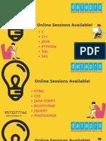 Online Sessions-DWK