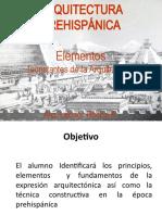 ARQ- PREHISPANICA ELEMENTOS