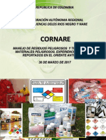 Cornare MANEJO DE RESIDUOS PELIGROSOS  Y TRANSPORTE DE MATERIALES PELIGROSOS ORIENTE ANT