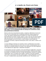 Lives otimizando o áudio no Zoom (PDF)