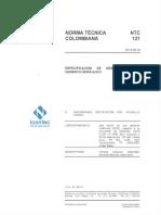 NTC 121-2014 Especificación de desempeño para cemento hidráulico lectura.pdf