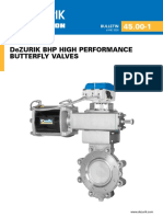 DeZURIK BHP HIGH PERFORMANCE BUTTERFLY VALVES