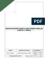 ET-TD-ME03-30 CONECTOR DE PUESTA A TIERRA