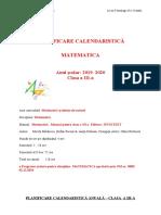 0_planificare_calendaristica_anuala_matematica_clasa_a_iiia