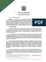 R. M. N° 303-2020-PRODUCE