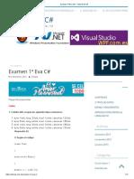 Examen 1ª Eva C# – Tutorial de C#